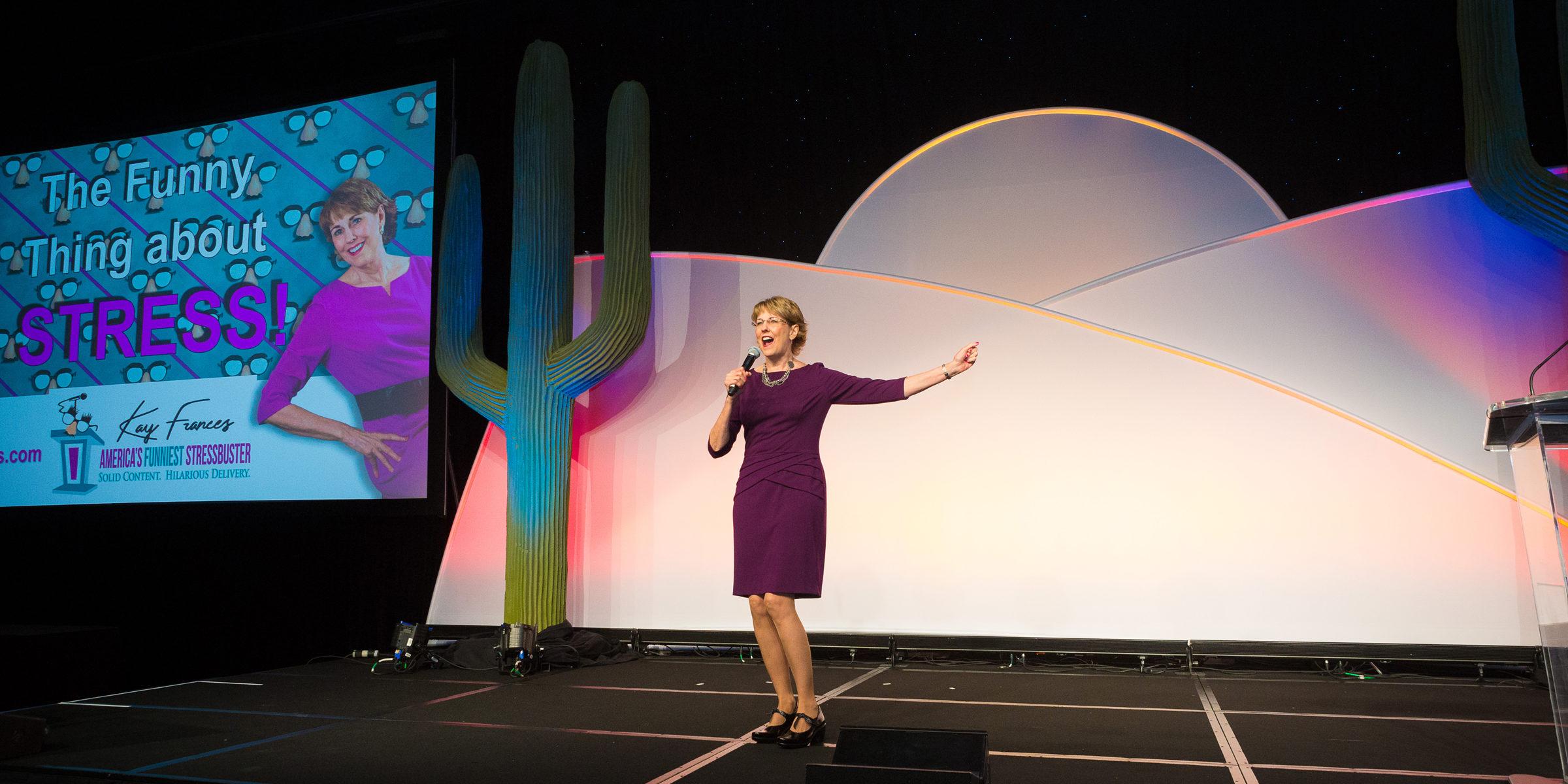 Funny Female Speaker Kay Frances